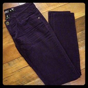 Purple corduroy jeans
